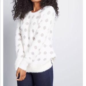 ModCloth Warm an Opinion Dotted Sweater
